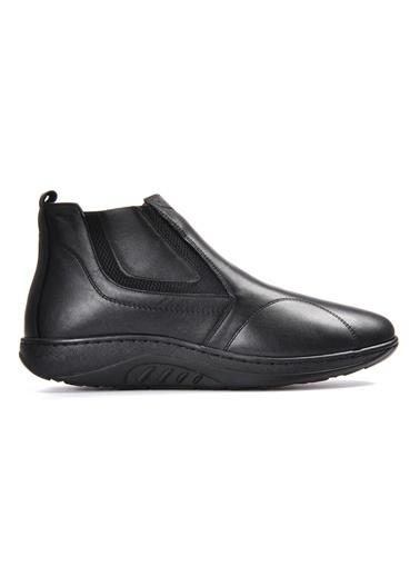 Vizon Ayakkabı Hakiki Deri Bot Siyah